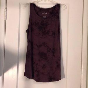 AEO Soft and Sexy Purple Tie Dye Tank